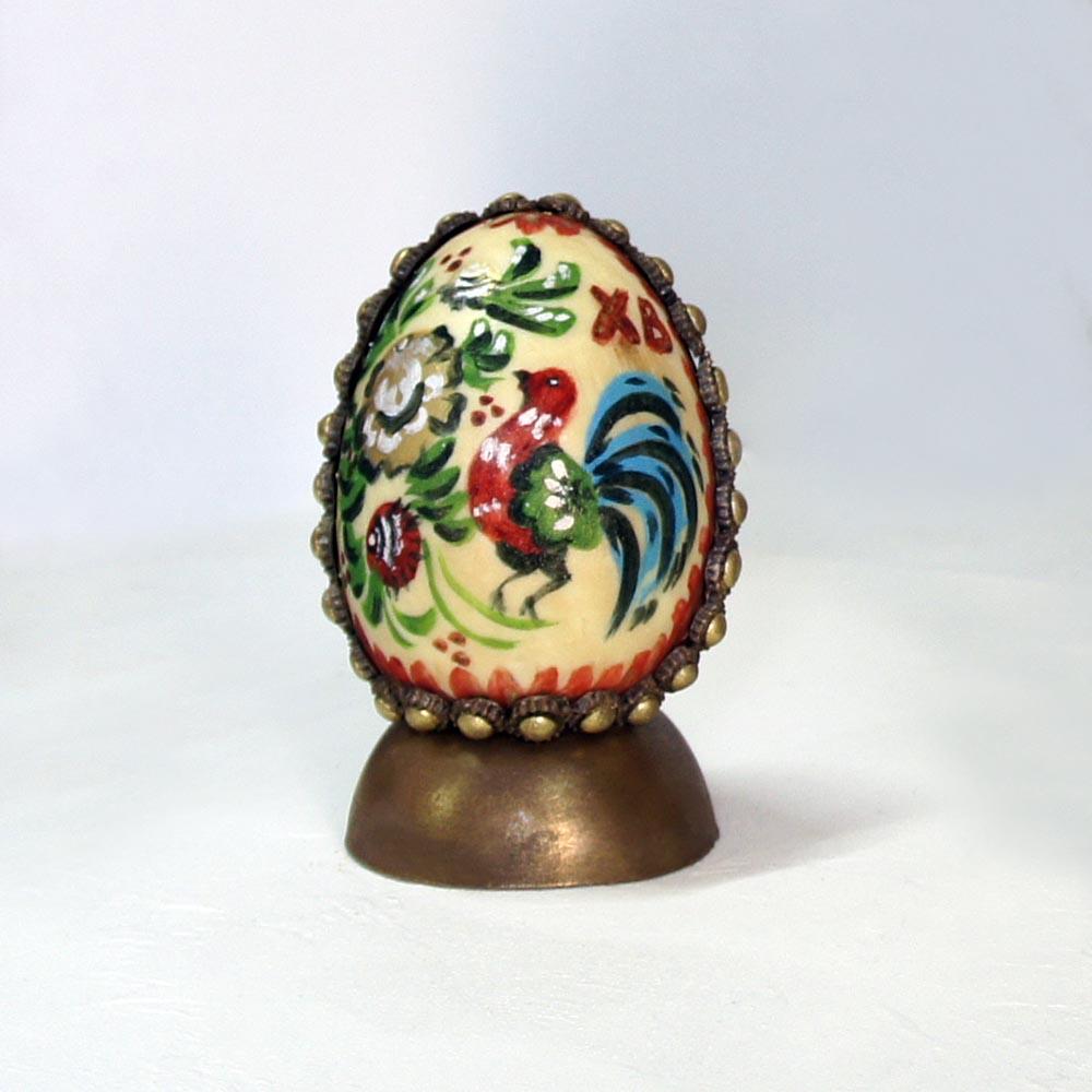 Яйцо пасхальное с ручной росписью (малое)