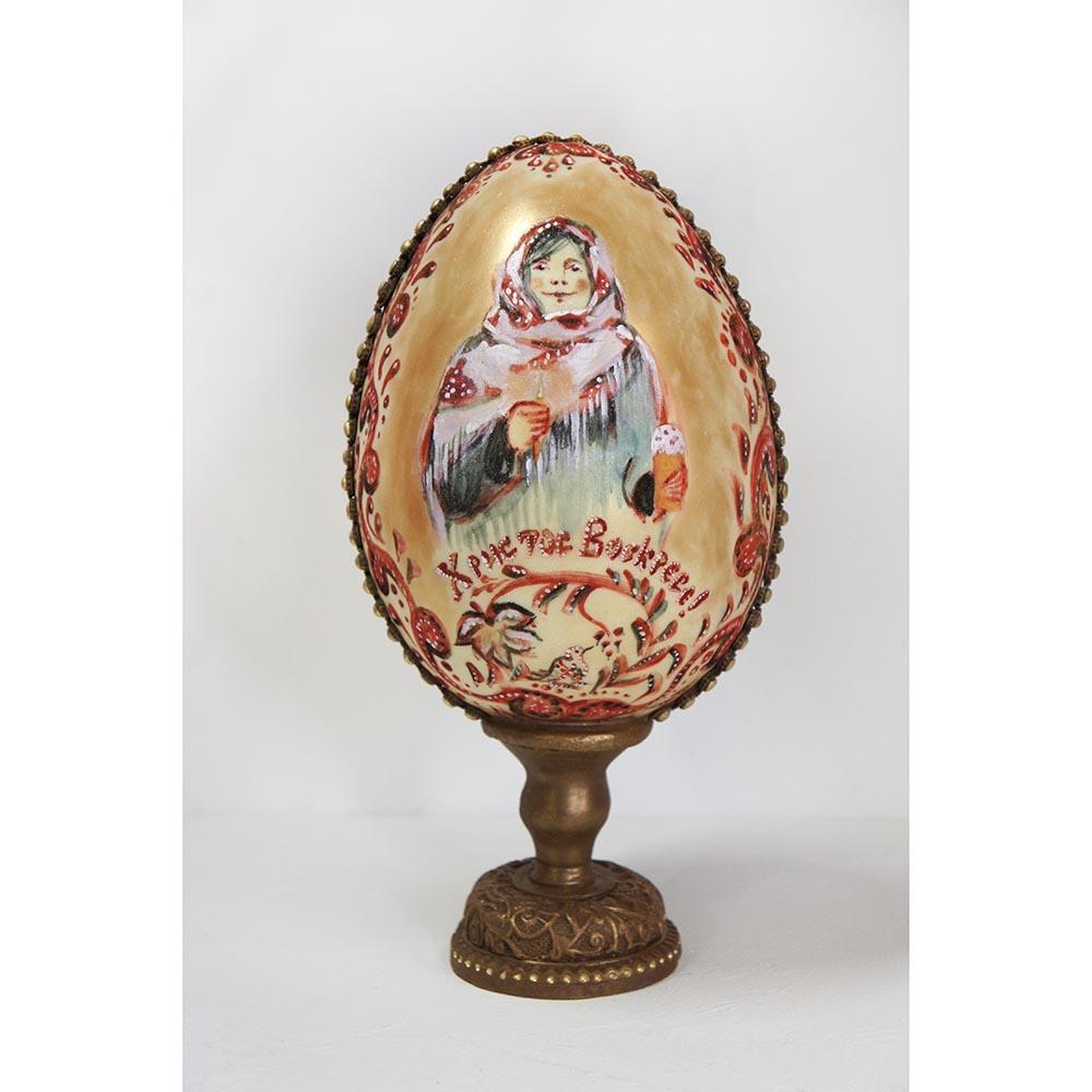Яйцо пасхальное с ручной росписью (большое)