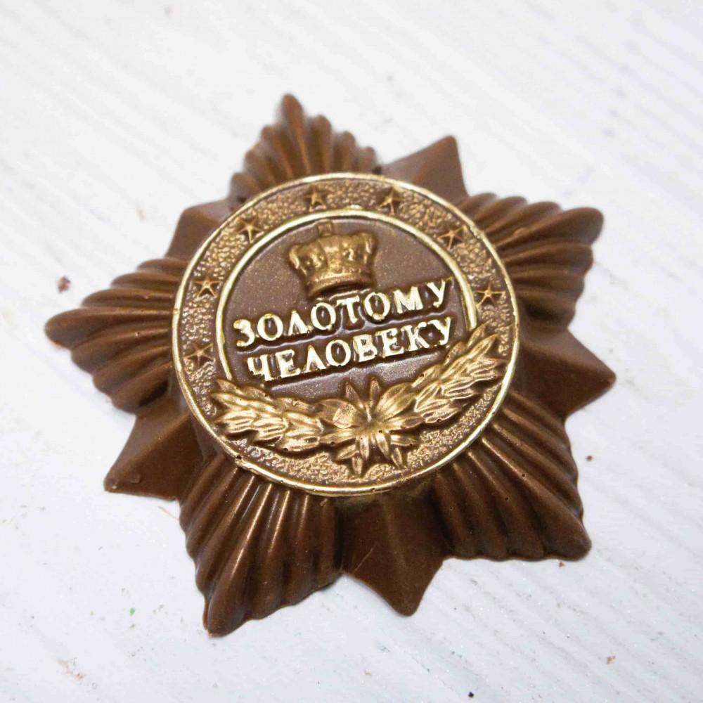 Плитка шоколадная Барельеф «Золотому человеку»