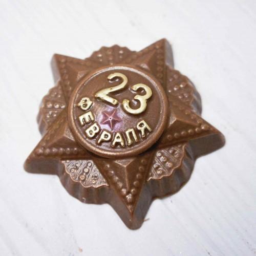 Плитка шоколадная Барельеф «Орден 23 февраля»