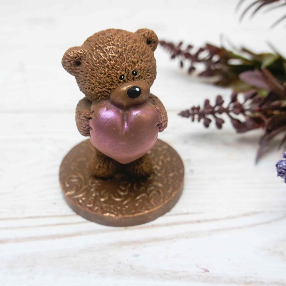 """Шоколадная фигурка """"Мишутка с сердцем"""""""