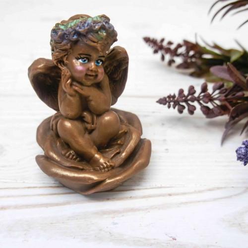 """Фигура шоколадная """"Ангел на розе"""""""