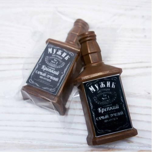 Плитка шоколадная «Бутылка 23 февраля»