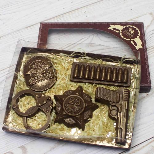 Набор фигур шоколадных «Полиция»