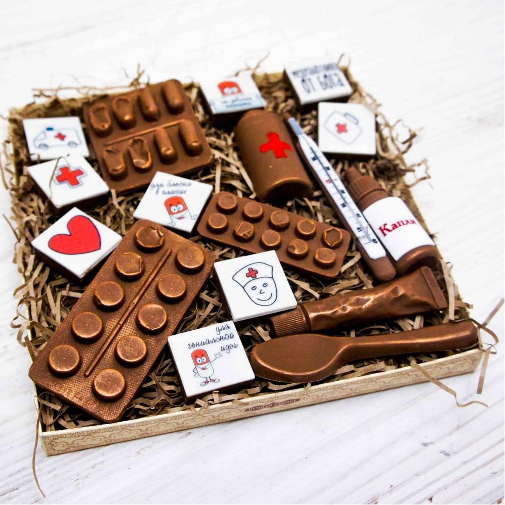 """Шоколадные фигурки """"Подарочный набор медику"""""""