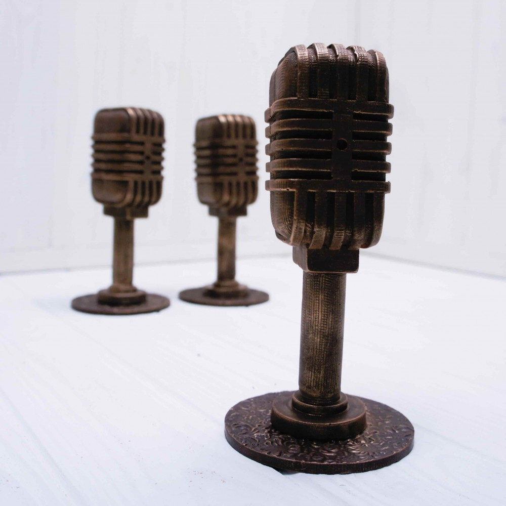 """Шоколадная фигура """"Ретро микрофон"""""""