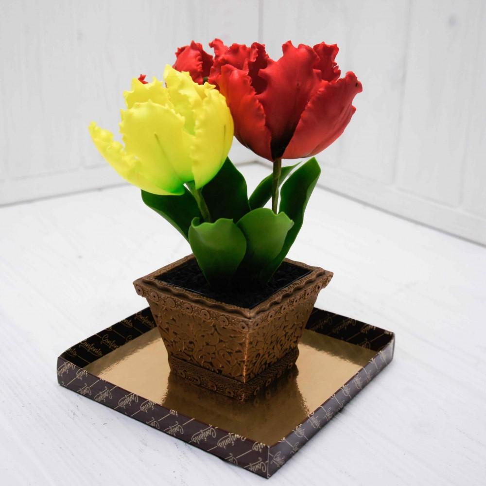 Букет из крупных тюльпанов