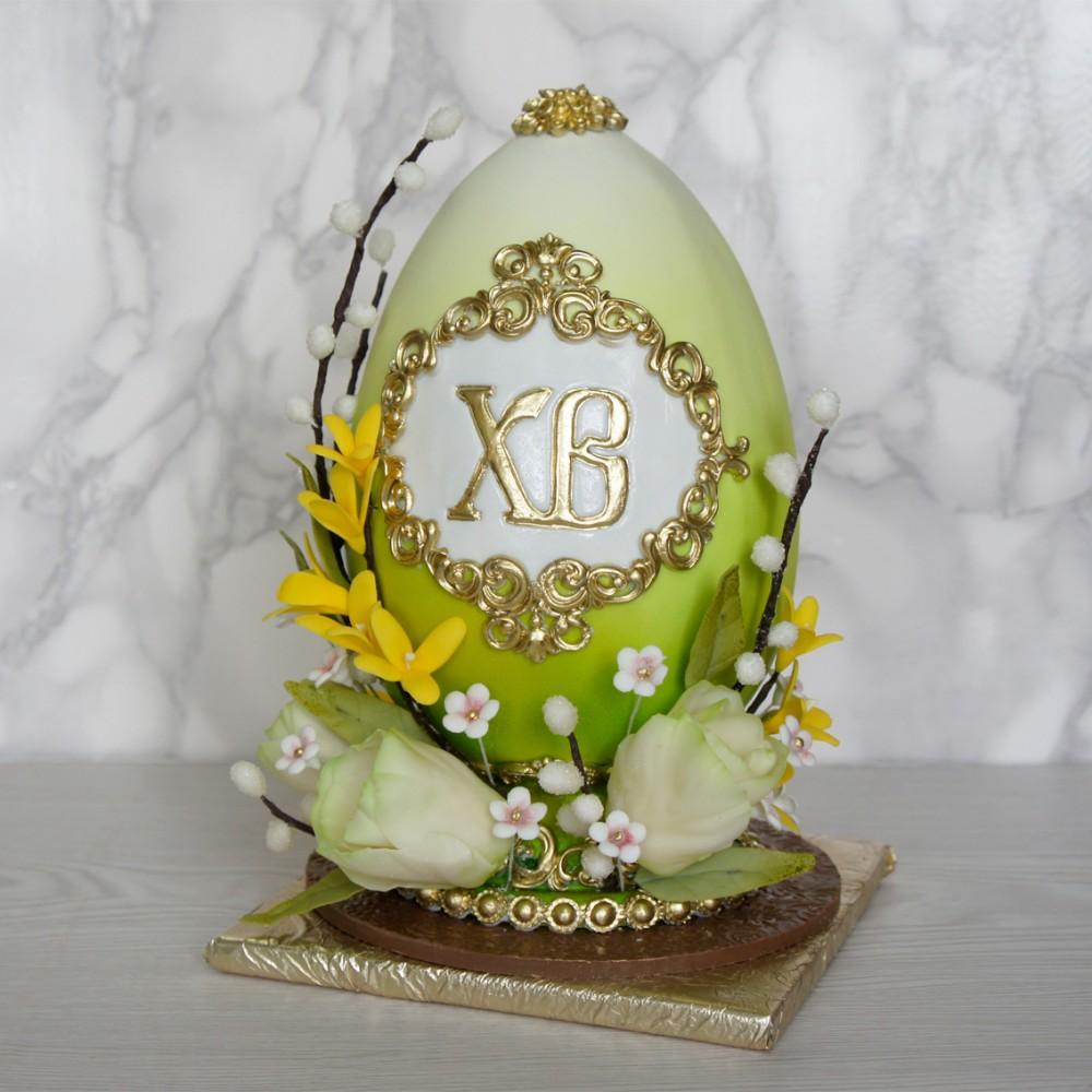 Яйцо пасхальное с тюльпанами