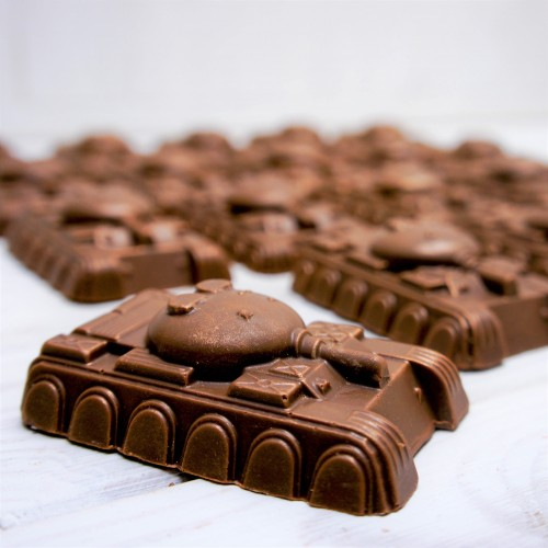 """Шоколадная фигура """"Мини-танк"""""""