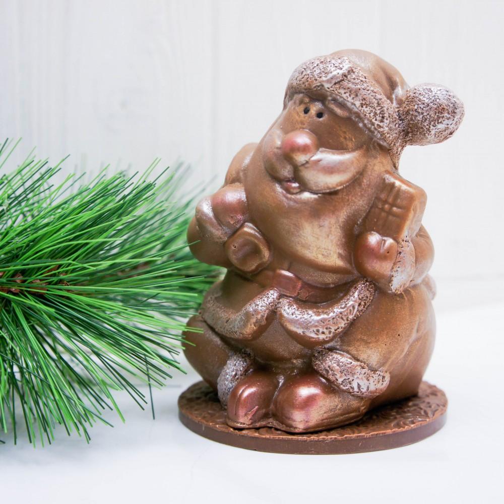 """Фигура шоколадная """"Дед Мороз с мешком"""""""