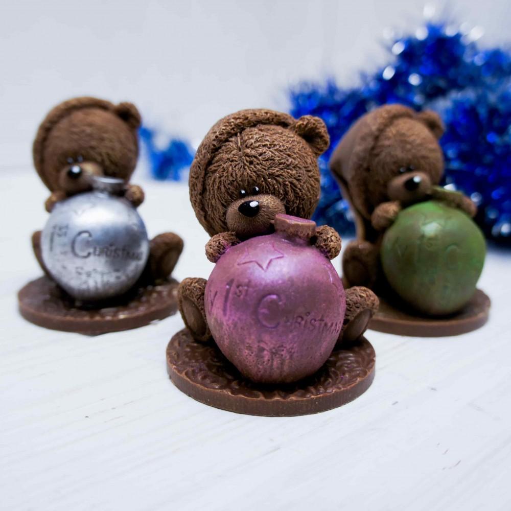 """Фигурка шоколадная """"Мишутка с горшочком"""""""